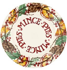 "JL Bradshaw EMMA Holly wreath mince pies 8 1/2"" plate"