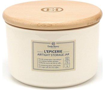EMILE HENRY STORAGE JAR .5L. ARGILE
