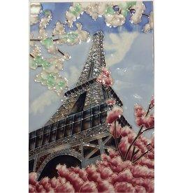 "Benaya Handcrafted Art Decor TILE - EIFFEL TOWER- 8"" x 12"""