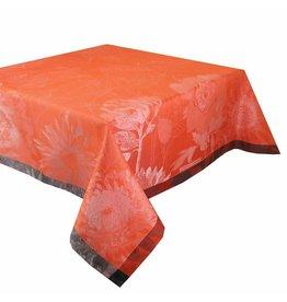 "Garnier Thiebaut Tablecloth Fleurage Fiesta 61"" x 61"" Square GREEN SWEET"