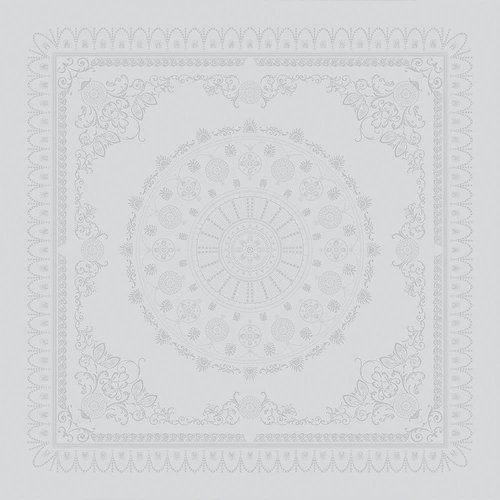 """Garnier Thiebaut TABLECLOTH Eloise Diamant 69"""" x 100""""   (GREEN SWEET)"""