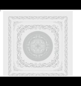 "Garnier Thiebaut TABLECLOTH Comtesse Blanc 69"" x 120"""