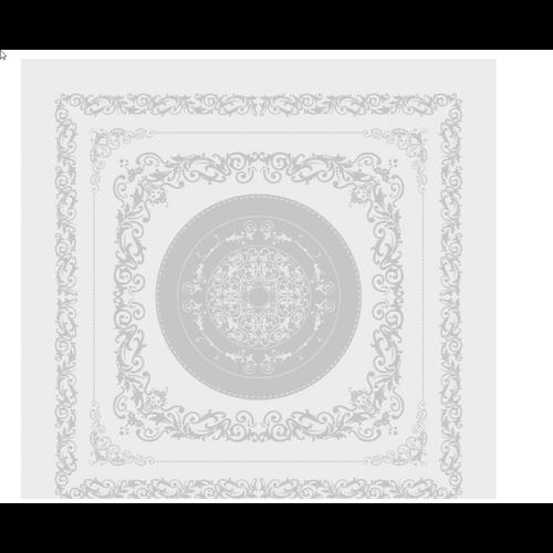 "Garnier Thiebaut TABLECLOTH Comtesse Blanche 69"" x 100"""
