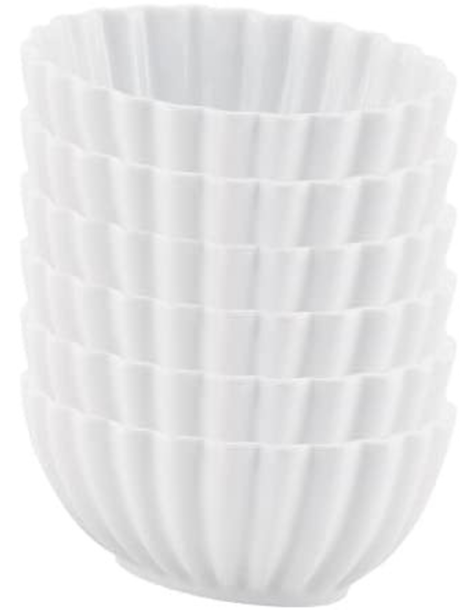 Harold Import Company Bowl Scalloped WHITE 8 oz 1 cup