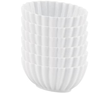 Bowl Scalloped WHITE 8 oz 1 cup