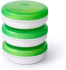 Danesco OXO On The Go set of 3 No-Leak Condiment Jars