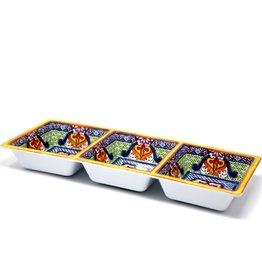 Danesco PREPARA Taco 3 section server