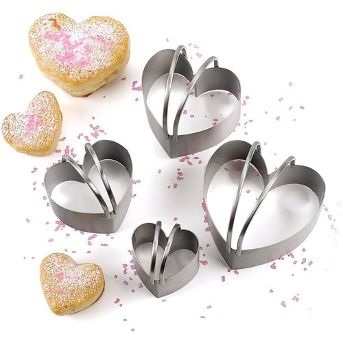 RSVP Heart Shaped Biscuit Cutter/Set of 4