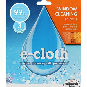 E-Cloth Inc. E-CLOTH WINDOW CLEANING CLOTH/SET OF 2