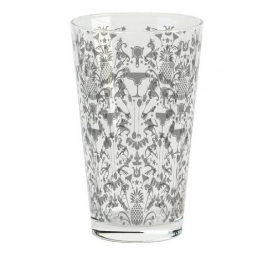 HOSPITALITY CONSUMER PRODUCTS Silver Patterned Glass 16 oz.