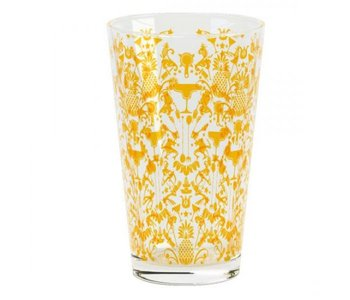 Gold Patterned Glass 16oz.