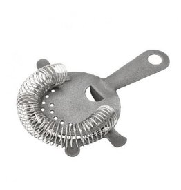 HOSPITALITY CONSUMER PRODUCTS COCKTAIL STRAINER 4 PRONG - MATTE PEWTER EFFECT