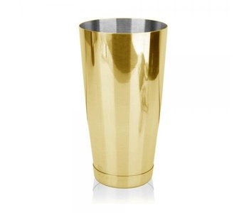 COCKTAIL BOSTON WEIGHTED 28oz - GOLD with Glass Patterned Shaker