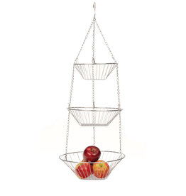 Danica 3-TIER CHROME HANGING BASKETS