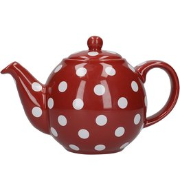 Danica Teapot, Red with White Spots 2 cups.