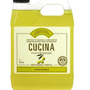 FRUIT & PASSION Cucina REFILL DISH DETERGENT CONCENTRATED CORIANDER & OLIVE