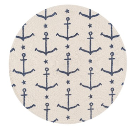Danica Placemat BRAIDED Ahoy Anchors