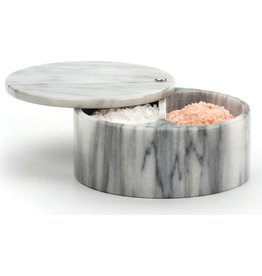 RSVP SWIVEL SALT BOX - WHITE MARBLE