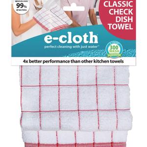 E-Cloth Inc. E-TOWEL CLASSIC CHECK RED E-CLOTH