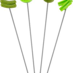 Fox Run Green Garnish Skewers/ Set of 4