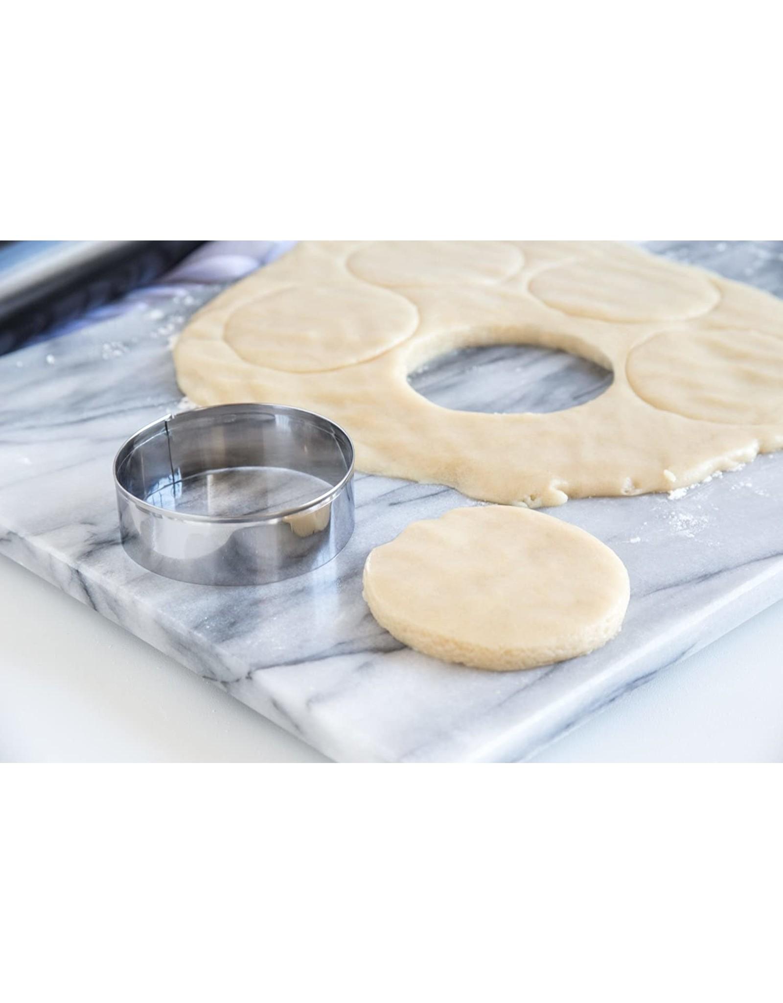 """Fox Run 3"""" Round Cookie/Biscuit Cutter S/S"""