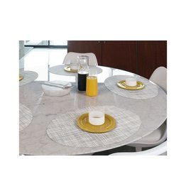 PLACEMAT OVAL MINI BASKETWEAVE MIST