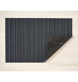"Chilewich Doormat Shag Skinny Stripe BLUE 18"" X 28"""