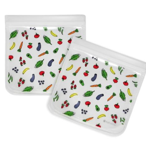 Full Circle FC Ziptuck Fruit & Vegetable Sandwich Bag/Set of 2 (Reusable)