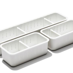 OXO OXO SLIM ADJ DRAWER BIN/ SET OF 3