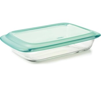 """OXO 9"""" X 13"""" RECT.  GLASS BAKER WITH LID"""