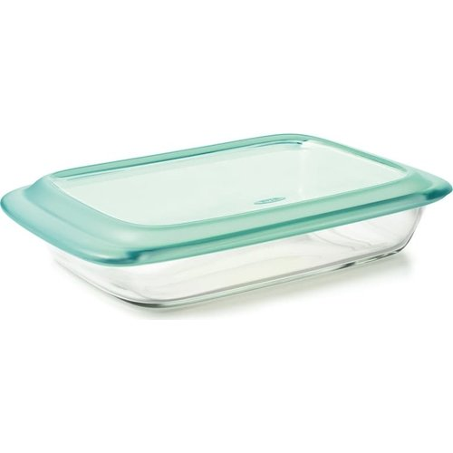 """OXO OXO 9"""" X 13"""" RECT.  GLASS BAKER WITH LID"""