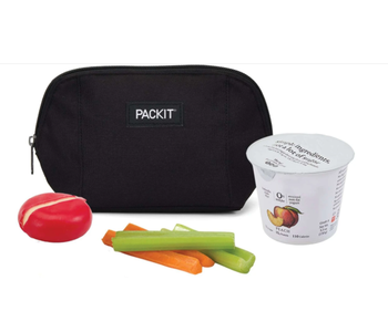 PACKIT Snack Bag BLACK Pouch Style