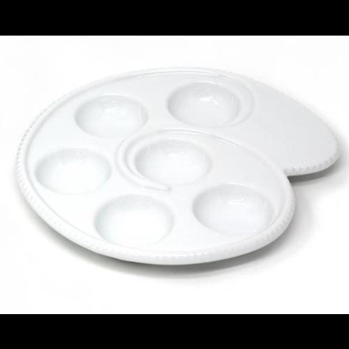 BIA Escargot/Mushroom Dish 17.5 cm  WHITE