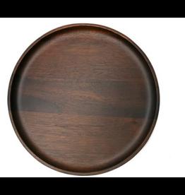 Danesco NATURAL LIVING Medium Round Plate Acacia Wood 25cm