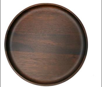 NATURAL LIVING Medium Round Plate Acacia Wood 25cm
