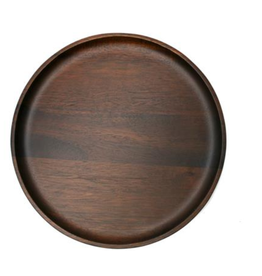 Danesco NATURAL LIVING Large Round Plate Acacia Wood 30 cm