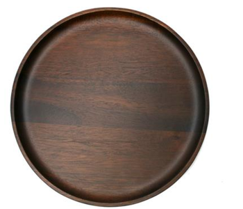NATURAL LIVING Large Round Plate Acacia Wood 30 cm