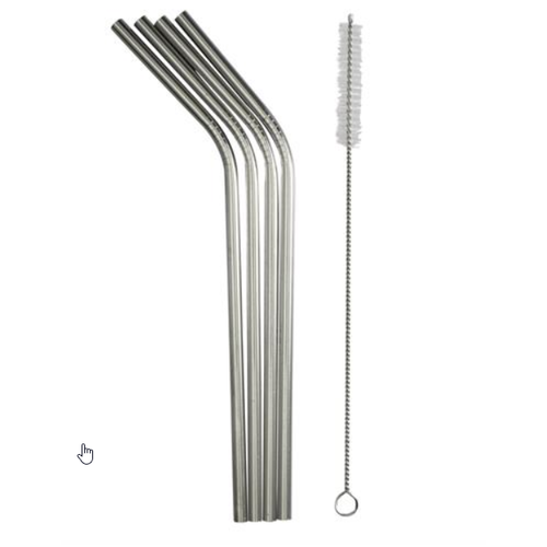 Danesco STAINLESS STEEL STRAWS / SET OF 4