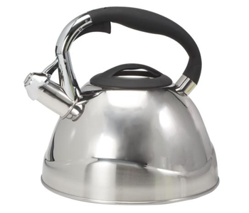 """CH'A Whistling Kettle """"VIO"""" Stainless Steel 2.6 QT"""