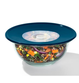 "OXO OXO Med. Reusable Silicone Lid 8"" Blue"