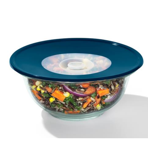 """OXO OXO Med. Reusable Silicone Lid 8"""" Blue"""