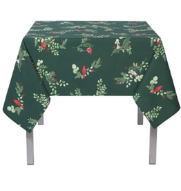 "Danica TABLECLOTH Forest Birds Print  60"" X 90"""