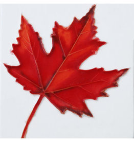 "Benaya Handcrafted Art Decor COASTER - SINGLE RED MAPLE - 4"" x 4"""