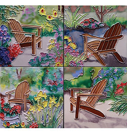 Benaya Handcrafted Art Decor Coasters -Sitting in Jan's Garden/ Set of 4