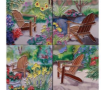 Coasters -Sitting in Jan's Garden/ Set of 4