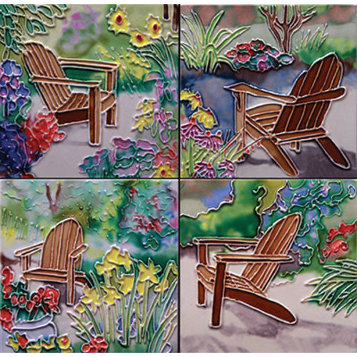 Benaya Handcrafted Art Decor Coasters -Sitting in Jan's Garden/ Set of 4