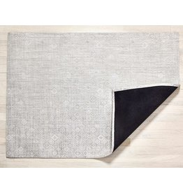 "Chilewich Floor Mat MOSAIC 35""x48"" Grey CHILEWICH"