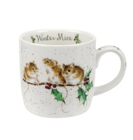 Royal Selangor Portmeirion WRENDALE MUG Winter Mice 11 oz.