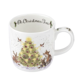 Royal Selangor Portmeirion WRENDALE MUG Oh XMAS TRee 11 oz.