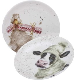 "Royal Selangor Portmeirion WRENDALE COUPE PLATE 6.5"" Duck & Cow/ SET OF 2"